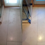 Bathroom limestone polishing and sealant application