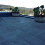 Concrete tile cleaning and sealant application