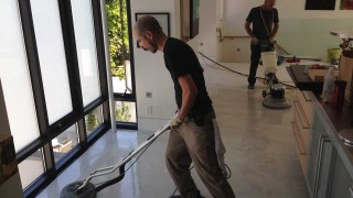 concrete honing and coating application