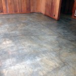 Concrete staining and coating application
