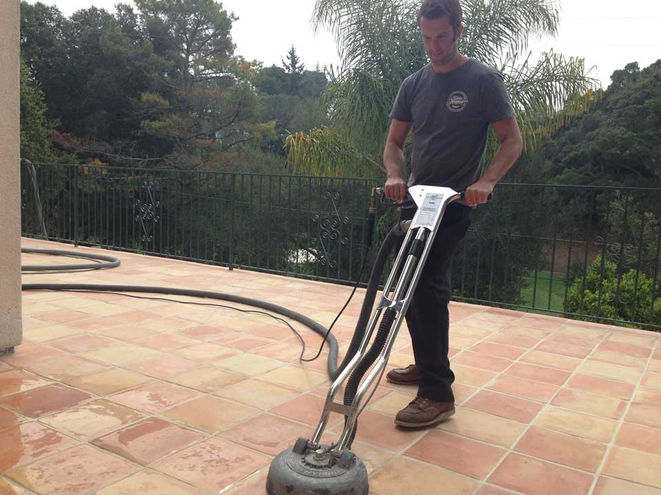 hard surface extractor cleaning and sealing